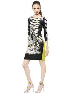 Printed Heavy Viscose Jersey Dress