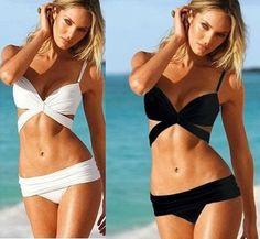 New Arrival! Free Shipping, Sexy Women Push Up Bra Padded Swimwear Swimsuit Trikini Bikini Beachwear Set 2 Color Sz S M L on AliExpress.com. 10% off $14.03