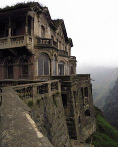 The Abandoned And Haunted Hotel del Salto, Colombia. I would love to go here!