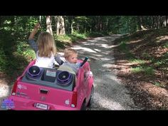 Lost BABY in the woods found walking ALONE rescued by Play Doh Girl in her Pink Power Wheels Ride On - YouTube