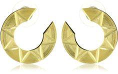 Yochi Aztec Geometric Earrings Yochi. $35.00. Post earring. Made in USA