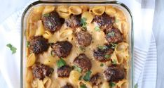 This is the kind of comfort food dish that you make on the weekend. Think Swedish meatballs meets a casserole and that's what we've got going on here today. I tend to pref… Meat Recipes, Crockpot Recipes, Cooking Recipes, Chicken Recipes, Recipies, Dinner Recipes, Burger Recipes, Salmon Recipes, Pasta Recipes