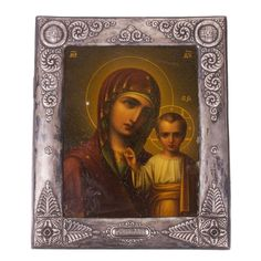 Lot 0083 Russian Art nouveau Icon of Mother of God of Kazan Starting price: 12000€ - Baltic Auction Group