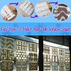 Make winter snowflake window shades -- a unique kids' craft.