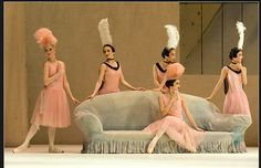 the perfect use of blue and pink- set for Ballet Russe