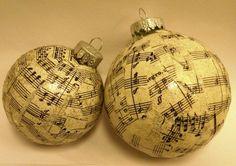 Sheet Music Ornament SM