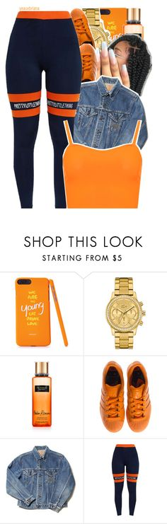 """985"" by yeauxbriana ❤ liked on Polyvore featuring Lacoste, Victoria's Secret, adidas and WearAll"