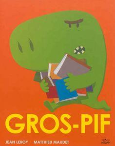 Gros-Pif est une brute qui ne sait rien faire d'autre que crier et ordonner. Un jour, un petit bonhomme arrive sur sa planète avec un livre. Gros-Pif, intrigué, décide d'apprendre à lire. Un livre drôle aux illustrations très colorées.