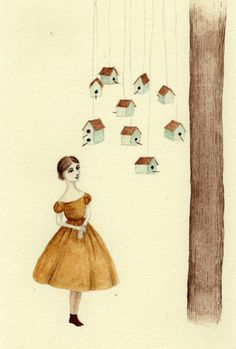 Bird houses, Julianna Swaney