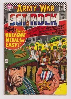 Our Army at War (featuring Sgt. Rock); Vol 1, 178, Silver Age War Comic. VG (4.0), March 1967. DC Comics #ourarmyatwar #sgtrock #silveragecomics #comicsforsale