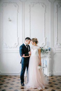 Blush wedding dress ivory wedding dress blush tulle gown