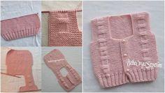 Baby vest construction for months - Anime Thing Crochet Slipper Pattern, Crochet Slippers, 6 Month Old Baby, 6 Month Olds, Baby Knitting Patterns, Baby Booties, Easy Crochet, Fashion 2017, 6 Months