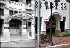 Ingang van het kantoor van de NILLMIJ in Batavia, 1909 1920, ,.,  Pintu Masuk PT Asuransi Jiwasraya, jl Ir H Juanda, Jakarta, 2017