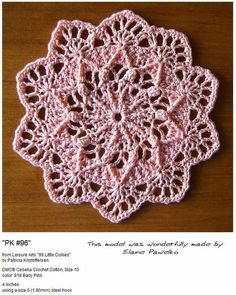 Crochet Mini Doily ~ TrishKDesign