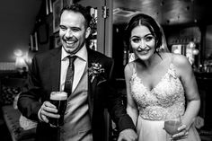 We've all had that moment when you walk into a pub in a wedding dress, right! This is what Sam did! They just went for a drink by themselves (and me), just to have some time together. Just have time together. Hampshire Uk, South East England, Date Today, Just Engaged, Forever Yours, Meet The Team, Our Wedding Day, Down Hairstyles, Have Time