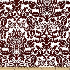 Screen printed on (approx.  6.4 ounce) cotton slub duck (slub cloth has a linen appearance), this versatile medium weight fabric is perfect for window accents (draperies, valances, curtains and swags), accent pillows, bed skirts, duvet covers, slipcovers , upholstery and other home decor accents. Create handbags, tote bags, aprons and more.   *Use cold water and mild detergent (Woolite). Drying is NOT recommended - Air Dry Only - Do not Dry Clean.  Colors include chocolate brown on an ...