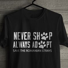Profits form this T-shirt will go to feeding, Medicating and caring for The stray dogs of Romania.In sizes Small to Xlarge.Please note this is a pre order and will be fulfilled when all 50 T-shirts have sold.You will be notified when the item has been sent to the address you have provided us with.