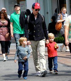 Matt Bomer and his adorable twins...DILF