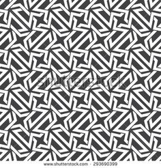 Seamless pattern of intersecting polygons with swatch for filling. Celtic chain mail. Fashion geometric background for web or printing design.