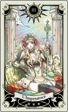 Tarot card 3- the Empress by rann-rann.deviantart.com Motherly, nature, fertility and comfort