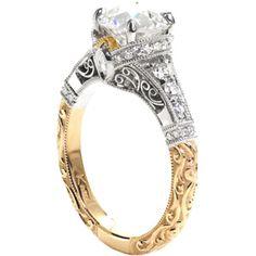 Beautiful handmade ring! Rebecca Kristine - Knox Jewelers - Minneapolis Minnesota - Hand Engraved Engagement Rings. www.knoxjewelers.biz