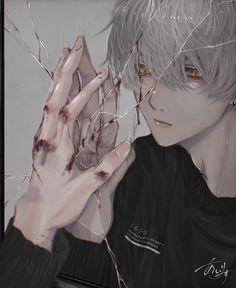 Anime Demon Boy, Dark Anime Guys, Cool Anime Guys, Handsome Anime Guys, Cute Anime Boy, Cute Anime Couples, Anime Boys, Art Anime, Anime Artwork