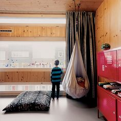 Articles about childrens bedrooms. Dwell is a platform for anyone to write about design and architecture. Ikea Ps, Ikea Lockers, Kid Spaces, Living Spaces, Amsterdam Houses, Cool Kids Rooms, Dream Bedroom, Bedroom Boys, Bedrooms