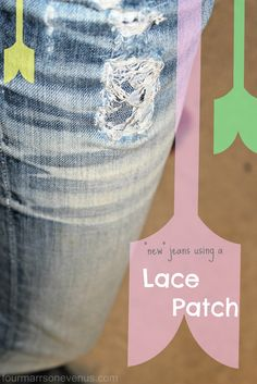 Patch holes with lace