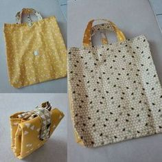 Tuto sac pliable - Bake Tutorial and Ideas Diy Tote Bag, Reusable Tote Bags, Sewing Hacks, Sewing Tutorials, Sewing Tips, Gucci Sale, Bag Essentials, Coin Couture, Diy Wallet