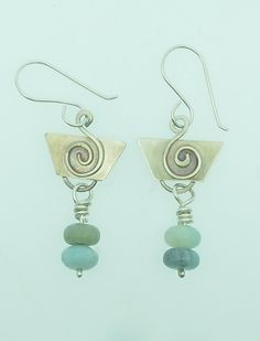 Silver jewelry silver earrings amazonite jewelry by Briadha, £16.99