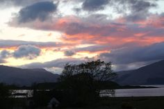 Custom Built Log Cabins for Sale in Scotland || Log Cabins Scotland, sunset Port Appin, 2012