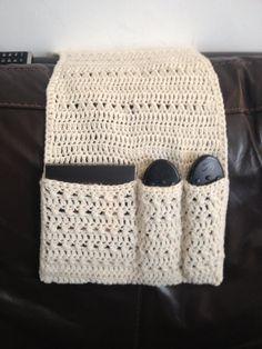 Handmade Crochet Remote Control Holder/tidy/living