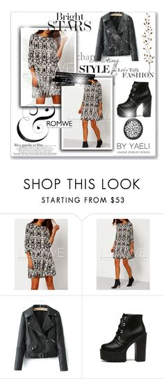 """""""Romwe #6"""" by amina-haskic ❤ liked on Polyvore featuring WithChic, Pier 1 Imports and romwe"""