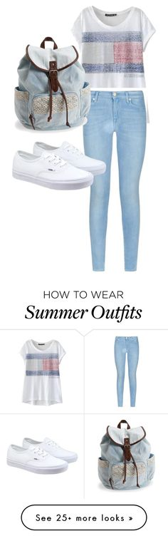 Cute Summer Outfit by avatrinity on Polyvore featuring 7 For All Mankind, Vans, Aéropostale, womens clothing, womens fashion, women, female, woman, misses and juniors