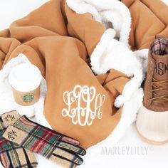 Personalized Sherpa Blanket