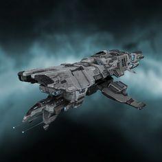 alienspaceshipcentral: The Ever flexible Tengu from Eve Online Spaceship Art, Spaceship Design, Spaceship Concept, Concept Ships, Concept Art, The Stars My Destination, Sci Fi Anime, Sci Fi Spaceships, Sci Fi Ships