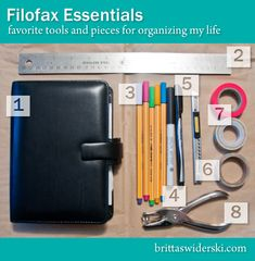 Britta Swiderski: Filofax Essentials: Favorite Tools and Pieces for Organizing My Life