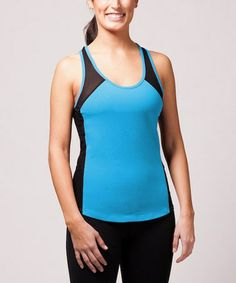 Take a look at this Turquoise & Black Weighted Tank by W8FIT on #zulily today!