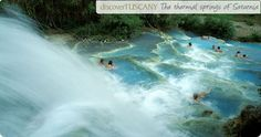 thermal springs in saturnia, italy