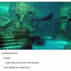 Atlantis facts inform you with the intriguing information about the hidden treasure, mystic ships and lost cities. When people talk about Atlantis, they will always consider Atlantis as the lost city. Under The Water, Under The Sea, Underwater Ruins, Sunken City, Saint Yves, Lost City, Ancient Civilizations, Abandoned Places, Ancient History