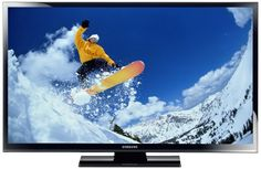 Samsung PS51E490 129 cm (51 Zoll) 3D-Plasma-Fernseher, Energieeffizienzklasse B (HD Ready, 600Hz CMR, DVB-T/C, CI+) schwarz