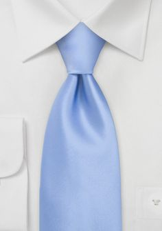 Solid Tie in Rich Sky Blue - This Puccini neck tie works well for any work wardrobe for the winter time. The beautiful shade of lapis blue is a wonderful accompaniment to any Blue Ties, Blue Bow, Verde Tiffany, Sky Blue Weddings, Light Blue Suit, Der Gentleman, Wedding Ties, Wedding Stuff, Capri Blue