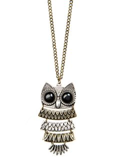MANGO - ACCESSORIES - Chain with oversize owl pendant