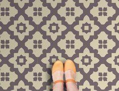 Casablanca Grey Vinyl Flooring: Retro Vinyl Floor tiles for your home