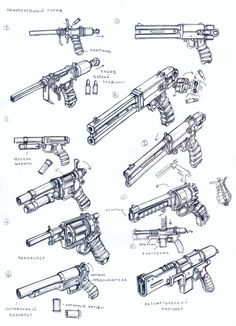weapons 34 by TugoDoomER on DeviantArt Find our speedloader now… Anime Weapons, Sci Fi Weapons, Weapon Concept Art, Weapons Guns, Fantasy Weapons, Drawing Tips, Drawing Reference, How To Draw Weapons, Sword Design