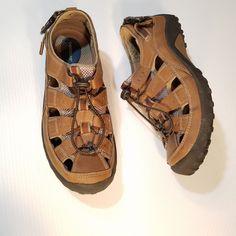 867a69e79ca2 Dockers Sport Sandals Mens 12M Brown Bungee Fisherman 90-21623  DOCKERS   Fisherman Sport