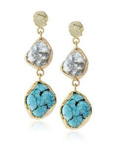 Kanupriya Rough Florite & Turquoise Earrings, http://www.myhabit.com/redirect/ref=qd_sw_dp_pi_li?url=http%3A%2F%2Fwww.myhabit.com%2Fdp%2FB00JKPKFF6