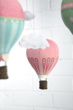 Ballons à Air chaud panneau en tissu dans les par CraftSchmaft