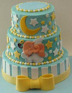 www.sweetavenuecakery.ca #cake #kids #babyshower #blue #yellow #babyshowercake