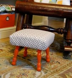 Make that old stool look like brand new with this upholstery project. You'll need primer or paint (or stain, if you'd prefer), as well as foam, cotton batting, fabric, an iron, staples and a staple gun like our heavy-duty T50. Remember, use shorter staples for hard wood, but make sure your staple is long enough to fasten all of the materials! www.arrowfastener.com